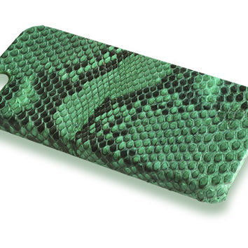 iPhone 5S case - green python