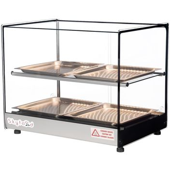 """Commercial Countertop Food Warmer Display Case 22"""" with 4 Trays"""