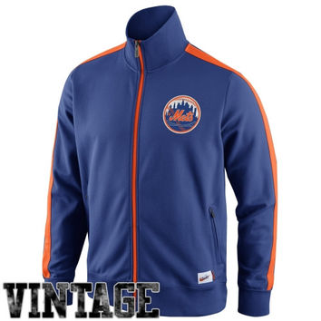 Nike New York Mets Cooperstown Collection N98 Full Zip Track Jacket - Royal Blue