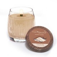 Sugared Vanilla : Medium Crackling LumiWick™ Vase Candle : Yankee Candle