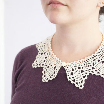 Peter pan collar lace - Crochet collar lace - shirt collar - 1915 reproduction