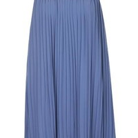 **Pleated Chiffon Cami Dress by Glamorous - Blue