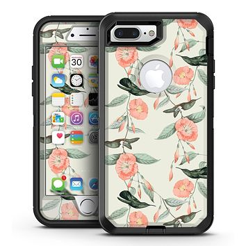 The Coral Flower and Hummingbird on Branches - iPhone 7 Plus/8 Plus OtterBox Case & Skin Kits