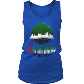 United Arab Emirates Skyline Horizon Sunset Love Country Women's Tank