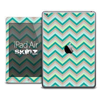 The Subtle Green Chevron Pattern V2 Skin for the iPad Air