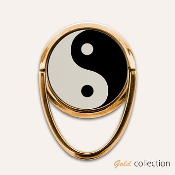 Gold Yin Yang Phone Ring Finger Holder Mount Stand Grips
