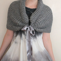 Gray Wedding Shawl, Winter Wedding Stole, Wedding Wrap, Bridal shawl, bridesmaid shawl.
