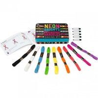 Retro Neon Friendship Bracelet Making Kit