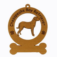2094 Chesapeake Bay Retriever Standing Ornament Personalized with Your Dog's Name