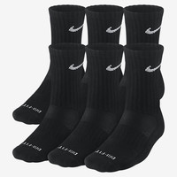 The Nike Dri-FIT Cushioned Crew Socks (Medium/6 Pairs).