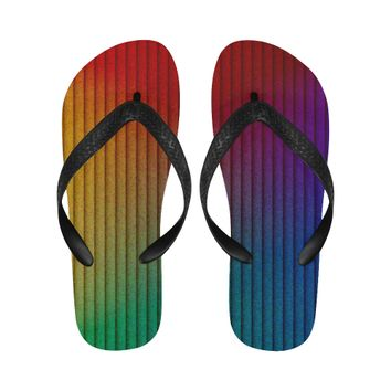 color gradient Flip Flops for Men/Women (Model 040) | ID: D2693781
