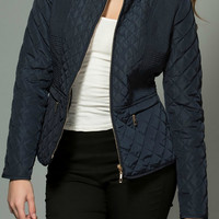 Fall Festival Puffer Jacket - Navy