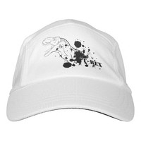 T-Rex (Black and White) Headsweats Hat