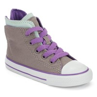 Converse All Star Zip-Back High-Top Sneakers for Toddler Girls (Grey)
