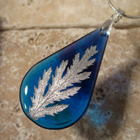 Tansy leaf Necklace, leaf jewelry, plant jewellery,