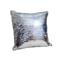 Hot sale silver sequin throw pillows cushion without inner for wedding decorative throw pillows home decor cojines almofadas