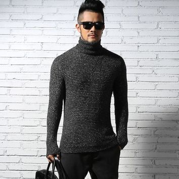 2016 NEW Men Winter Warm Turtleneck Pullover Thermal Sweater Multi color option Solid design Soft and Warm free shipping