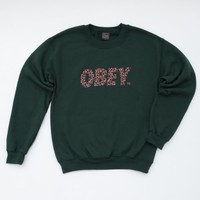 OBEY CHEETAH FONT THROWBACK SWEATSHIRT