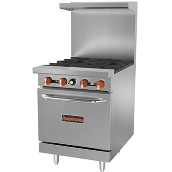Commercial Kitchen 4 Burner Gas Range with Oven 152,000 BTU