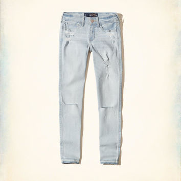 Girls Hollister Low-Rise Crop Super Skinny Jeans | Girls Bottoms | HollisterCo.com