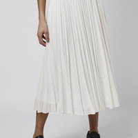 Iridescent Pleat Skirt