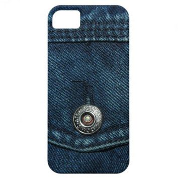 Blue Denim Pocket iPhone 5 Case from Zazzle.com