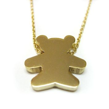 Golden Teddy Bear Necklace