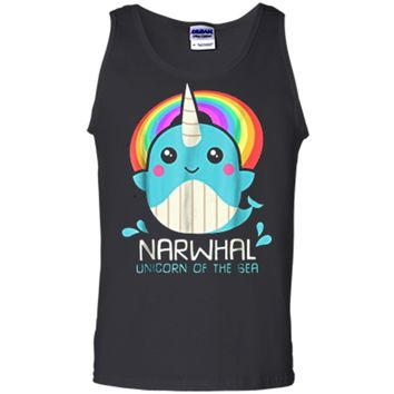 Unicorn Of The Sea Narwhal  : Magic Kawaii Whale Gift Tank Top