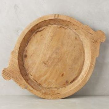Carved Crest Trays by Anthropologie in Natural Size: Set Of 2 Decor