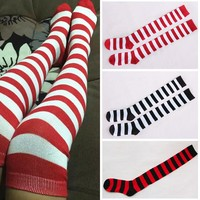 Fashion Cotton Women Knit Over Knee Thigh Stockings Lady High Hosiery Pantyhose Tights