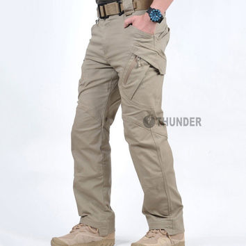 IX9 City Tactical Cargo Pants Men Combat SWAT Army Military Pants Cotton Pockets Stretch Paintball Clothing Casual Trousers XXXL