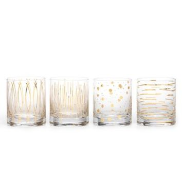 Mikasa® Cheers Metallic Gold Double Old Fashioned Glasses (Set of 4)