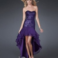 Sexy A-line Sweetheart Asymmetrical Chiffon Prom Dress / Evening Dress [10105664] - US$101.99 : DressKindom