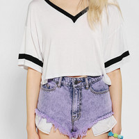 Neon Moon Cropped Athletic Tee