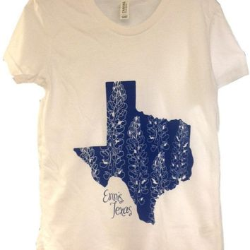 Youth Bluebonnet Short Sleeve Tee, White