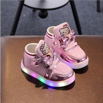 Children Luminous Shoes Boys Girls Sport Running Shoes Baby Flashing Lights Fashion Sneakers Toddler Little Kid LED Sneakers