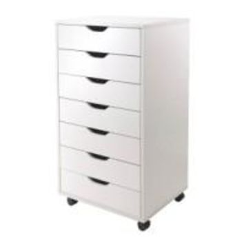 Winsome Wood 10792 Halifax Cabinet for Office, 7 Drawers, White
