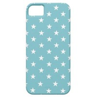 Blue Curacao And White Stars iPhone 5 Case