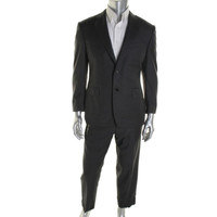 Canali Mens Wool Long Sleeves Two-Button Suit