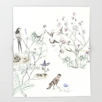 With a rush of wings,,, Throw Blanket by anipani