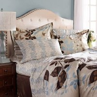 Angelica Taupe 8-pc. Reversible King Bedding Set | Kirkland's