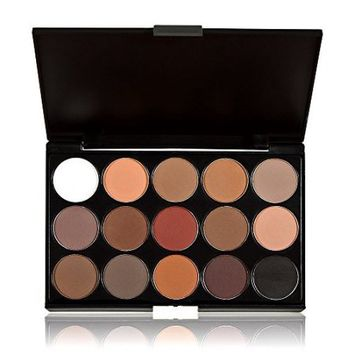 Anself Professional 15 Colors Women Cosmetic Makeup Neutral Nudes Warm Eyeshadow Palette - Walmart.com