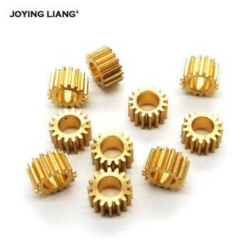 165A 0.5M Copper Gear 16 Teeth 4.97MM Hole (5mm Tight) Motor Gearbox Metal Gear Toy Accessories 10pcs/lot