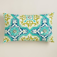Sufi Tiles Outdoor Lumbar Pillow