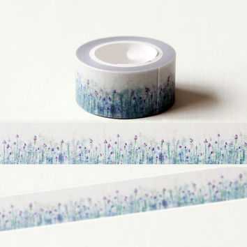 1 x 2cm*10m Beautiful Lavender washi tape DIY decorative scrapbook planner masking tape adhesive tape stationery