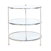 3 Tier Nickel Side Table