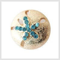 Gold Tone Sand Dollar 20mm 3/4""