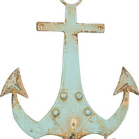 Aquamarine Anchor with Two Hooks