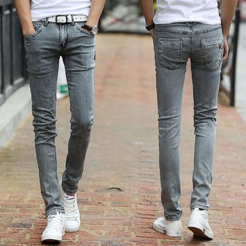 2016 Spring/summer new upscale Korean fashion slim fit feet stretch pants jeans men jeans men's fashion denim pants