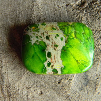 Green Sea Sediment Jasper Rectangle Cabochon